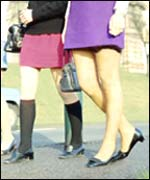 Miniskirts - a symbol of the 1960s