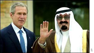 President George Bush and Crown Prince Abdullah