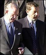 Blunkett and US Ambassador William Farish