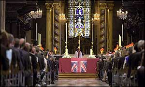 Congregation inside St Paul's Cathedral in London
