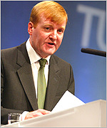 Liberal Democrat leader Charles Kennedy at the TUC