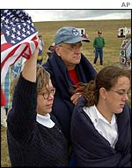 Mourners at Shanksville
