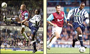 Jason Roberts gets away from West Ham's Tomas Repka to score the only goal at Upton Park as West Ham's troubles mount