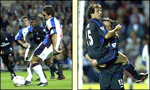 David Dunn opened the scoring for Blackburn but Chelsea fightback and Gianfranco Zola scores twice to give the visitors a 3-2 win