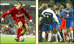 Steven Gerrard puts Liverpool 2-0 up but goals in the 61st and 90th minutes from Clinton Morrison earns Birmingham a draw