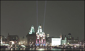 Liverpool's twin beams