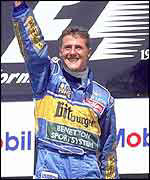 Michael Schumacher wins the German Grand Prix with Benetton in 1995