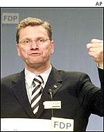 Guido Westerwelle of the FDP