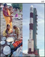 Villagers recover from storms and METSAT ready for launch on the PSLV