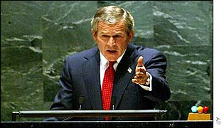 George Bush addresses UN