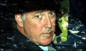 Michael Barrymore leaves the inquest on Thursday