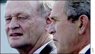 Jean Chretien and George W Bush