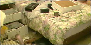 Ransacked bedroom