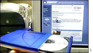 Napster website with CD