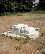 Monument at the mass grave of victims of Sabra and Shatila massacres