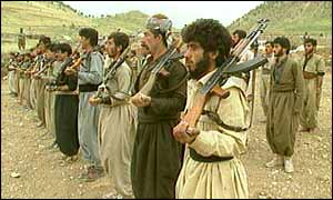 Anti-Saddam Kurdish guerrillas in Iraq