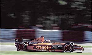 Jos Verstappen in action for Arrows during last year's Italian Grand Prix
