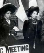 Sylvia Pankhurst and her sister Christabel