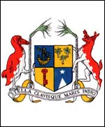 Mauritius coat of arms featuring