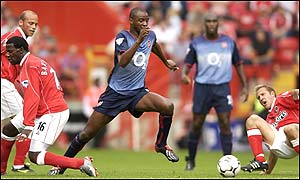 Arsenal's Patrick Vieira in action at The Valley