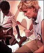 Princess Diana campaigned against landmines
