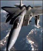 US F-15 fighter jet