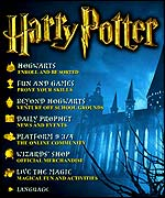 Harry Potter website - Warner Bros