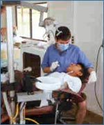 Foreign dentists often need an interpreter to communicate with their patients.