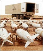 Iraq weapons of war - chemical bombs