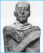 A mummy of the Pharaoh Ramses III