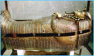 The famous mummy of Tutankhamun