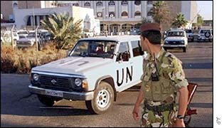 UN weapons inspectors in Baghdad