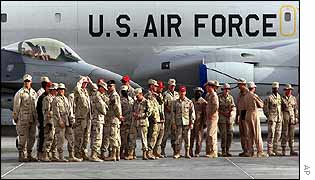 US soldiers stationed in Qatar