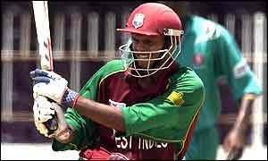 Shivnarine Chanderpaul in action against Kenya