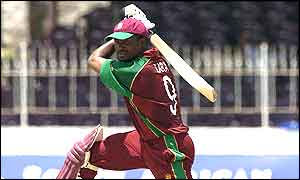 Brian Lara launches another boundary