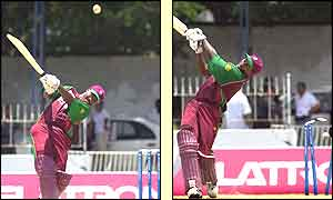 Brian Lara makes 11 as West Indies reach 261-6 from their 50 overs