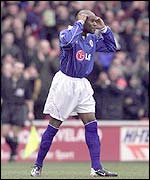 Frank Sinclair after scoring an own goal against Middlesbrough