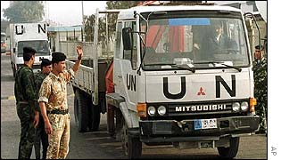 UN weapons inspectors leaving Iraq