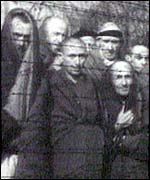 Survivors at Auschwitz