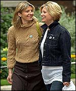 Actresses Jemma Redgrave (left) and Susannah Harker