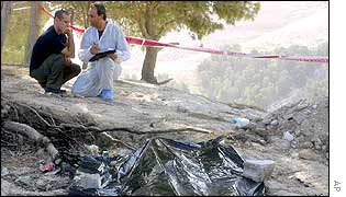 Forensic scientists at a dump where a body was found