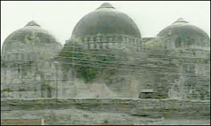 The 'Babri' mosque before its destruction
