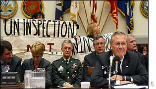 Donald Rumsfeld before the House Armed Services Committee