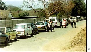 Queuing for petrol