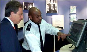 Tony Blair and a police officer