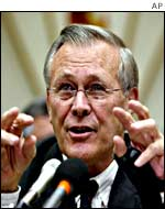 Secretary of Defence Donald Rumsfeld