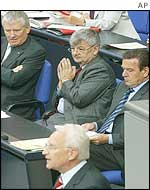 Schroeder, Stoiber, Fischer and Schily in the Bundestag