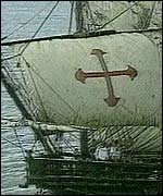 Columbus's ship would look like this one