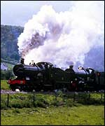 Two steam engines at work   BBC