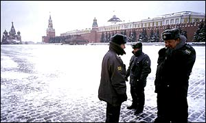 Russian police at the Red Square